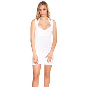 Dress with Neckstraps, Gathered White