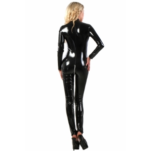 Sexy Roleplay Uniform - Vinyl Catsuit - Black