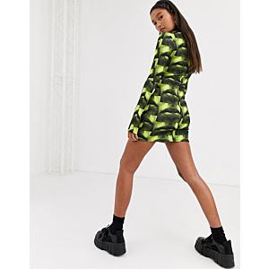 scuba bodycon mini dress