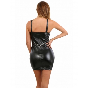 Sleeveless dress in leatherlook