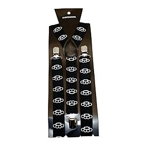 White Knuckledusters on Black 2.5cm Braces
