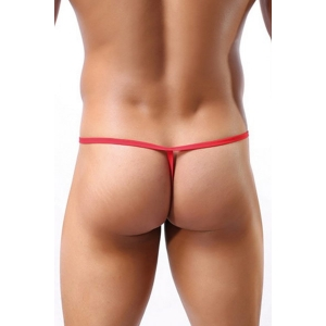 Red open string thong - OS