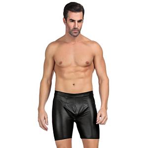 black wetlook boxer briefs