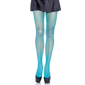 Nylon Fishnet Pantyhose - Neon Blue
