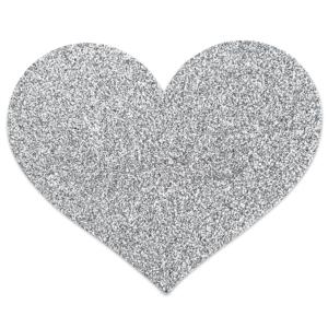 Αυτοκόλητα Θηλών Flash Heart Nipple Stickers Silver