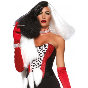 Diva disco wig- Black / White