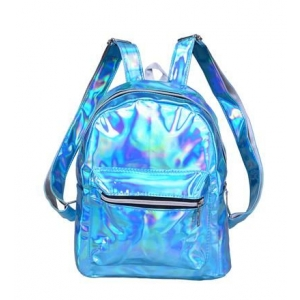 turquoise Holographic Backpack