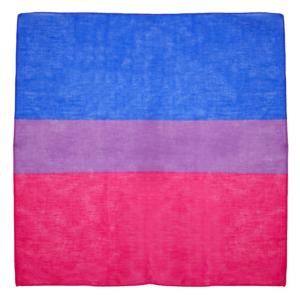 Bisexual Flag Cotton Bandanas 53cm x 53cm