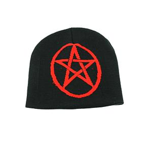 Red Pentagram Sign Unisex Beanie