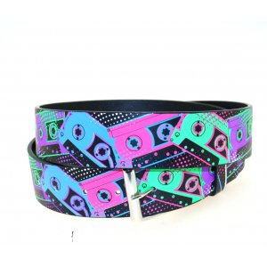 Printed Multicolour Cassette Belt