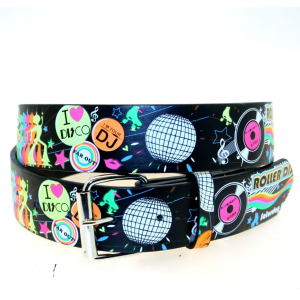 Printed Chessboard Belt with Multicolour Shutter Shades