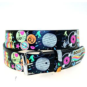 Printed Multicolour Disco Themed Belt