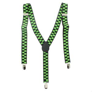 Black/ Green Checkered 2.5cm Braces