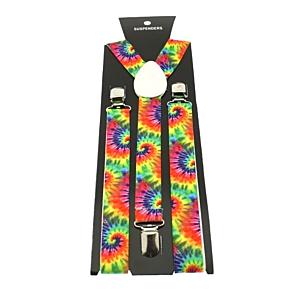 Rainbow Hippie Tie Dye 2.5cm Braces