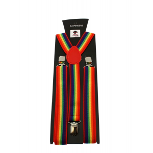 Rainbow Stripe 2.5cm Braces