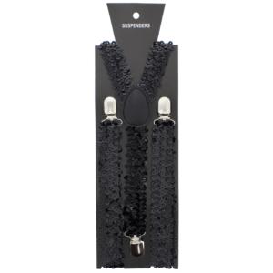 Black 2.5cm Sequin Braces