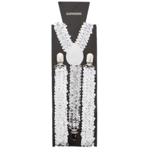 Silver 2.5cm Sequin Braces