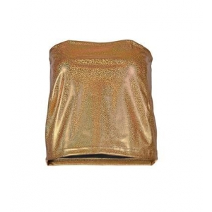 Gold Strapless Top