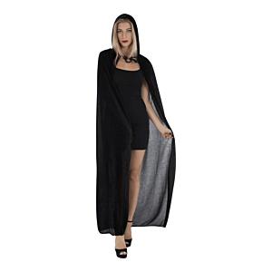 Unisex Fancy Dress Black Velvet Cloak Length 140cm