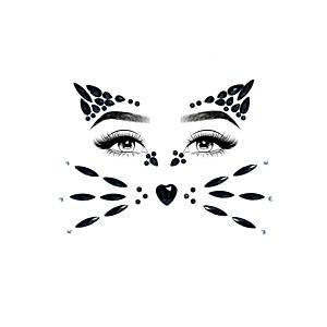 Animal face jewels sticker
