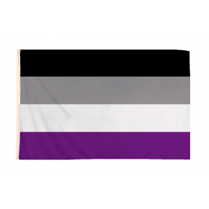 5 x 3 Feet Asexual Flag with Brass Eyelets
