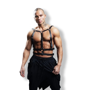 Men's Fetish Fashion Harness for special appearances - Vegan Leather