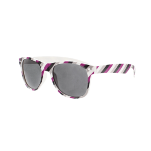 Asexual Coloured Striped Sunglasses