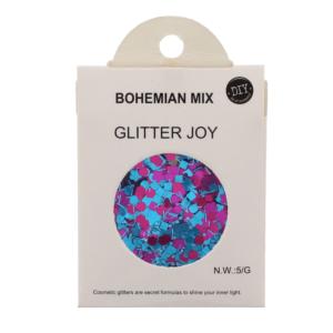 Bohemian Mix - Assorted Design Glitter for Skin, Hair & Nails