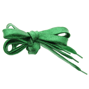 Pair of Green Glitter Shoelaces