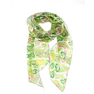 Heart Print on Green Sash (3 in 1)