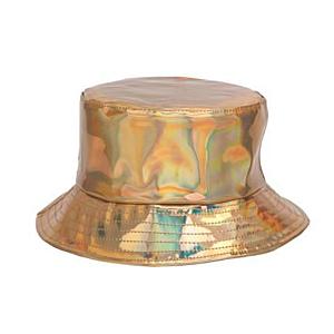 Gold Holographic PVC Sun Hat