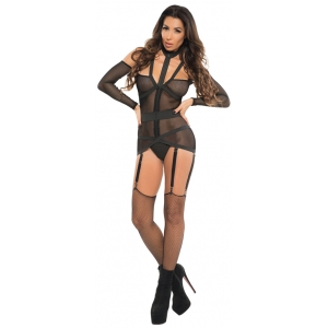 Corselette With Garters