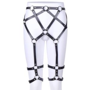 Fetish Bottom Body Harness - vegan leather
