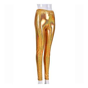 Gold foil leggings