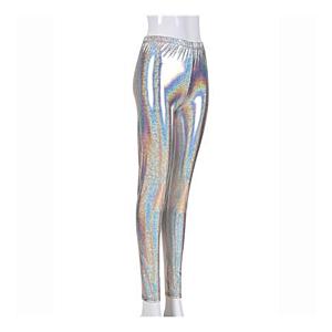 Silver foil leggings