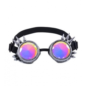 Antique Silver Spiked Kaleidoscope Goggles