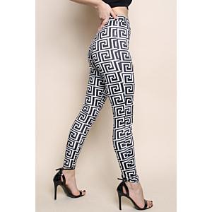 Geometric Print High Waisted Leggings