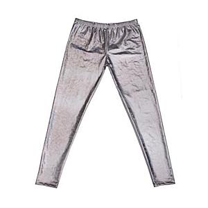 Mens Silver Shiny Leggings