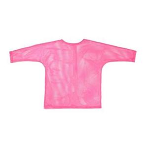 Long Sleeved Pink Mesh Top