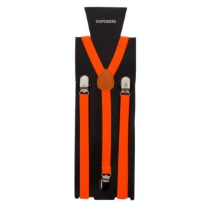 Neon Orange 1.5cm Plain Braces