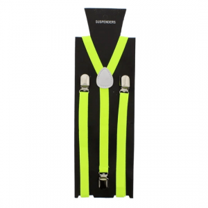 Neon Yellow 1.5cm Plain Braces
