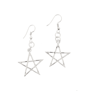 Pentagram Earrings - 2.6cm Diameter