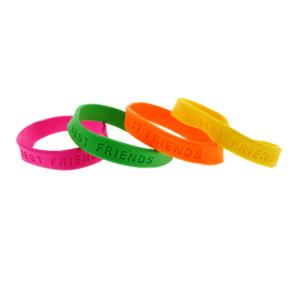 Assorted Neon BEST FRIENDS Silicon Bracelets