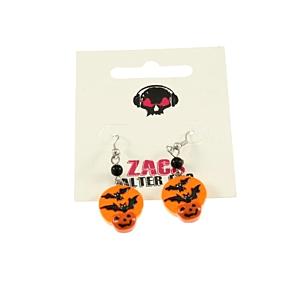 Pumpkin & Bat Earrings