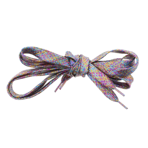 Pair of Rainbow Glitter Shoelaces