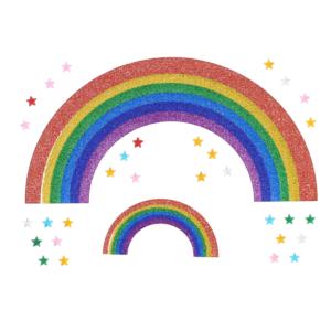 Rainbow Stickers & Star Gems Set