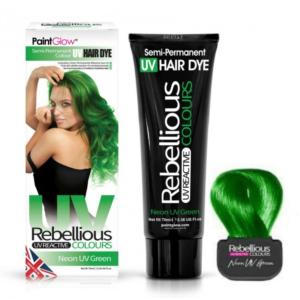 Semi-Permanent Hairdye, 70ml - Neon UV Green