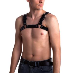 Cheap Men's Fetish Harness - Vegan Leather