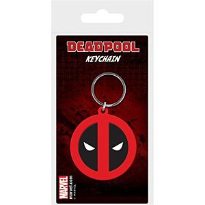 Marvel Comics Rubber Keychain Deadpool Symbol 6cm