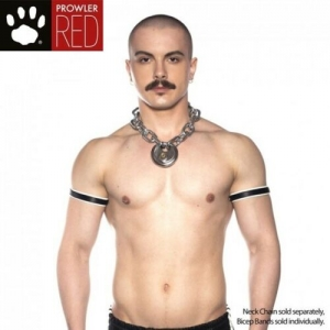 Prowler RED Bicep Band White